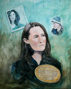 Liz Murray acrylic portrait